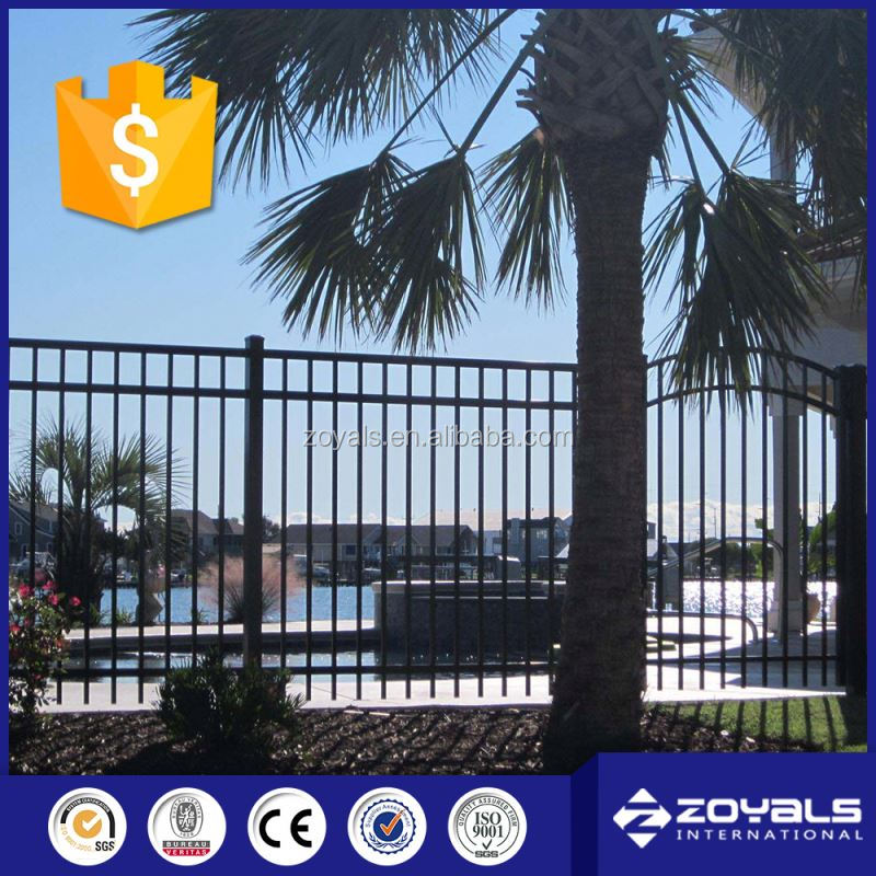 Super Level Pvc Coated Ornament Wrought Iron Fence