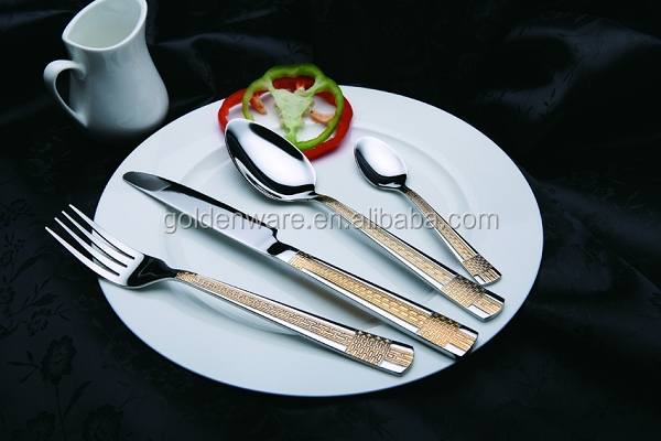 GW-J809 Newly Economic stainless steel cutlery bamboo