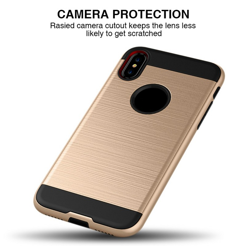For iPhone X case TPU PC Hybrid amor Brushed Cell phone case for iphone 10 for Samsung Galaxy Note 8 S8 S8 plus