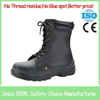 Genuine leather steel toe shoes goodyear safety footwear shoes boots