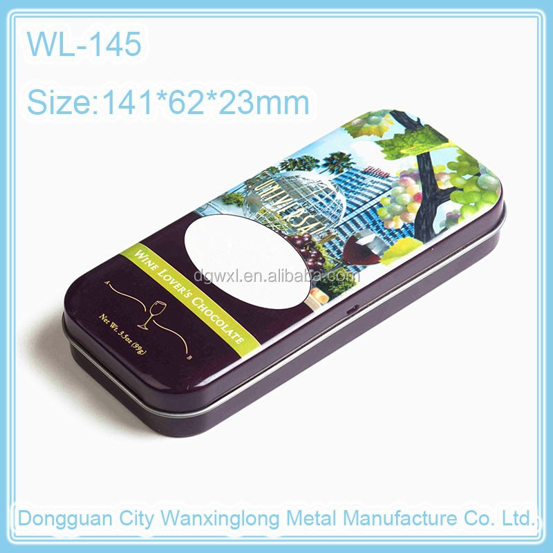 High quality rectangular pencil box, customized rectangular tin box