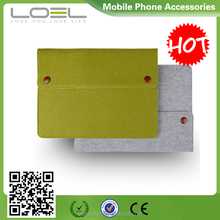 2016 new arrival !!! Fashional wool felt mini/ultra-thin envelope file cover sleeve for ipad with 3 pockets