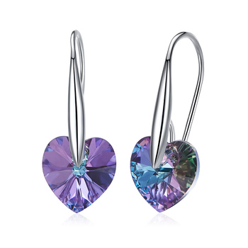 Wholesale Women Jewelry Stone Heart 925 Sterling Silver Earring