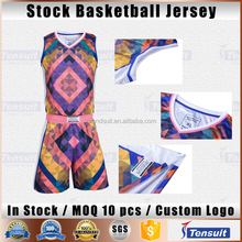 Basketball jersey uniform design adult mens basketball shirt pure color basketball tracksuit sets quick dry bulk price