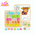 New hottest educational wooden kids puzzle with abc letters W14B087