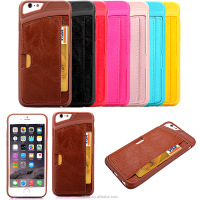 Leather cell phone mobile phone wallet leather case