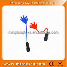 Green red blue yellow children time sticky hand toy
