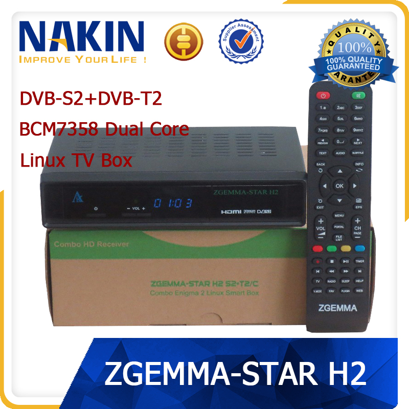 Genuine enigma2 Zgemma Star Dual Core full hd satellite receiver Zgemma Star H2 receiver dvb-s2 dvb-t2