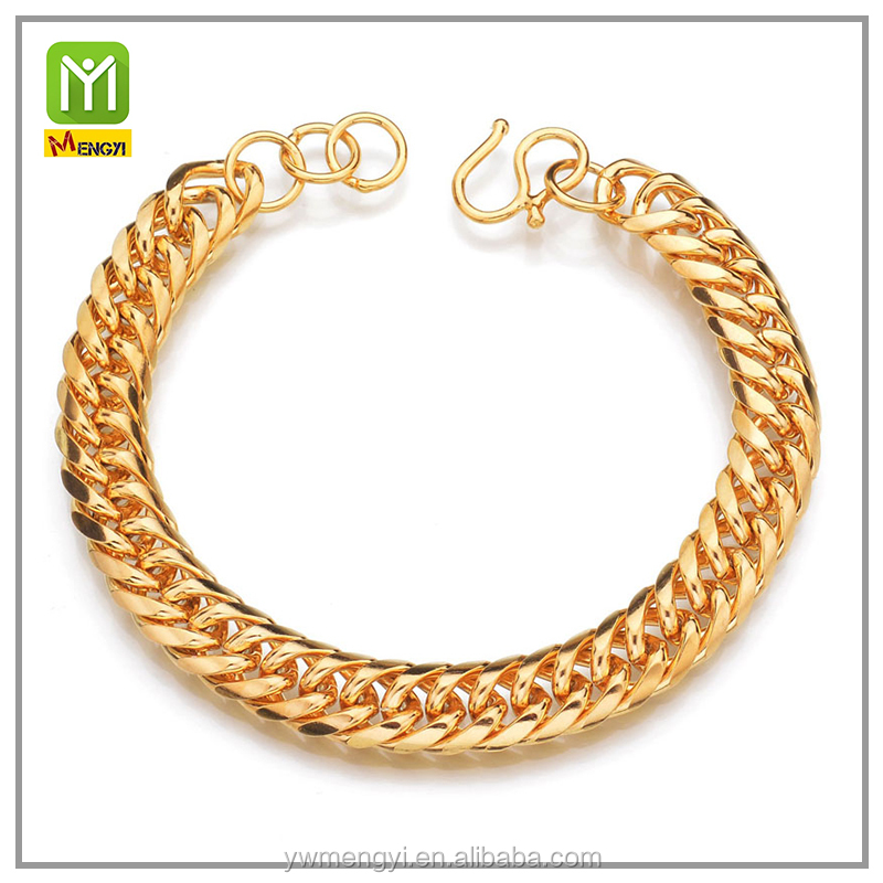New Products Cuban Curb Link Chain Gold Hand Chain new gold bracelet designs For Men