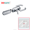 glass door lock with cylinder and lever handle for 8-12mm glass