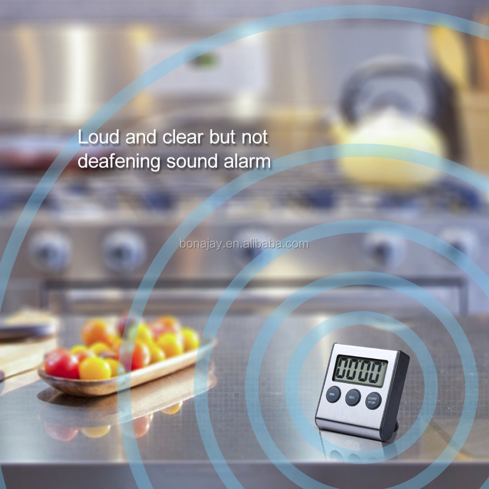 Super loud Stainless magnetic Kitchen digital timer