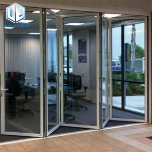 Aluminum cheap automatic accordion doors aluminum patio accordion doors