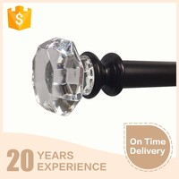 Popular curtain finial, crystal adjustable curtain rods Acrylic curtain rods for home decoration