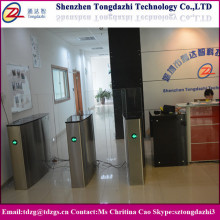 Electronic security turnstile sliding gate / full height flap turnstile for building
