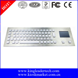 Panel Mount industrial kiosk backlit metal PC keyboard with touchpad