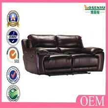 Hot sale artistic leather sofa set blue recliner kuka leather sofa