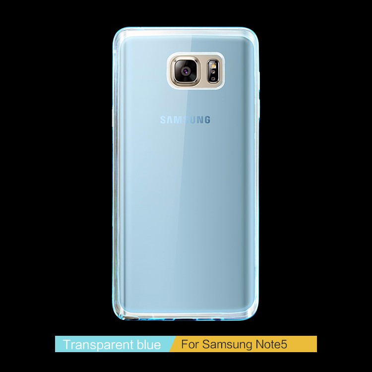 High Quality Sleek Transparent TPU Phone Case For Samsung Galaxy Note 5