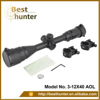 Compact 3-12x40AOL Optic rifle scope/riflescope with sunshade/riflescopes hunting gun sight