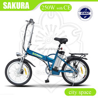 city space 36v 250w foldable lithium electric bicycle