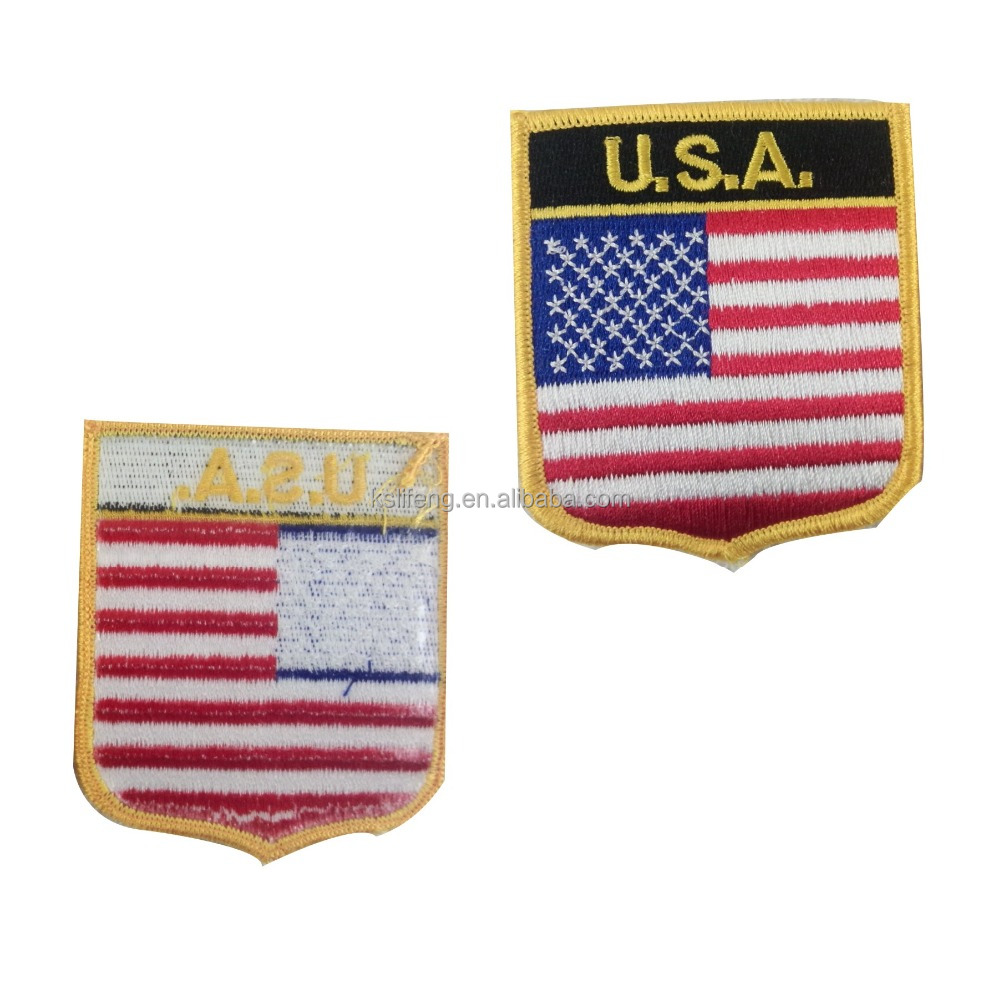 US flag patch custom embroidery patches patch embroidery