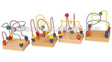 2014 wooden mini bead maze educational toy for children 6026