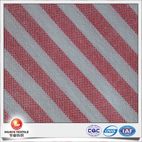 100% Cotton Yarn Dyed Shirt red and white striped cotton oxford fabric with free sample