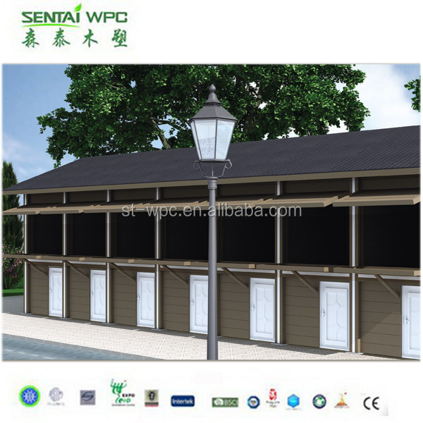 Windproof environmental engineered prefabricated wooden house price