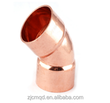 Copper Y branch tee pipe fitting for air conditioner pneumatic fitting