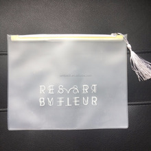 clear customed clothes plastic zip lock packaging bag
