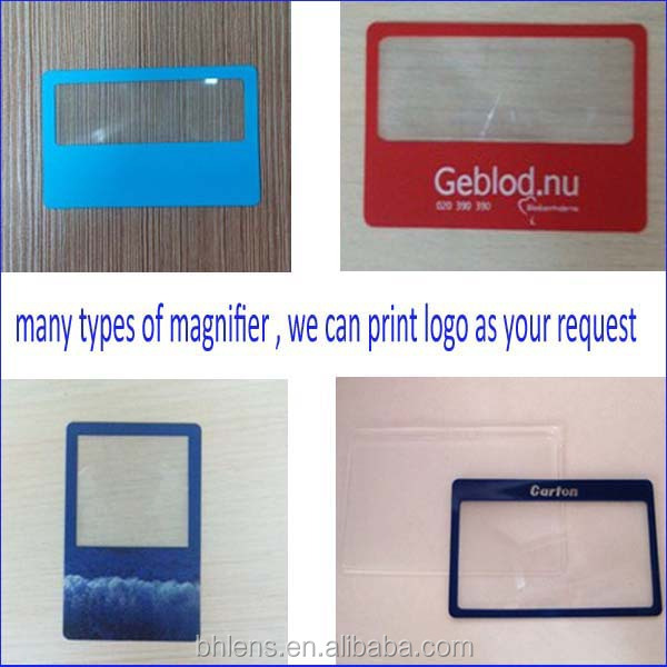 3X magnifier / Bohai credit card size magnifying glasses