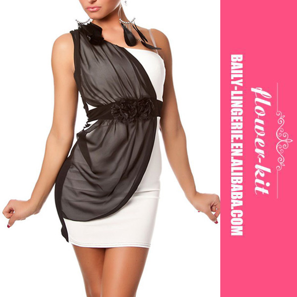 Hot Selling One Shoulder Women Sexy Progress Minidress