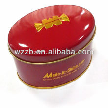 Oval Metal Box For Candy &Tea & Chocolate