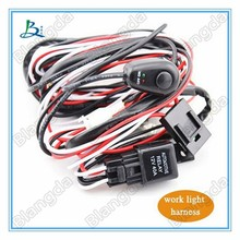 Hot led bar light/work light switch harness/ single double connect wire kit for all vehicles