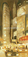 BC13-1309 100% Handmade impressionist city landscape oil paintings by famous Canada artist, painting for show room