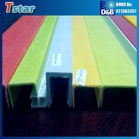 High quality fiberglass profile, fiberglass channel, pultrusion fiberglass reinforced plastic channel