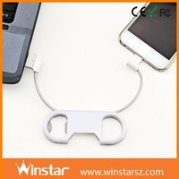 Exclusive new design usb bridge cable and bottle opener for iPhone 6 or micro USB phones