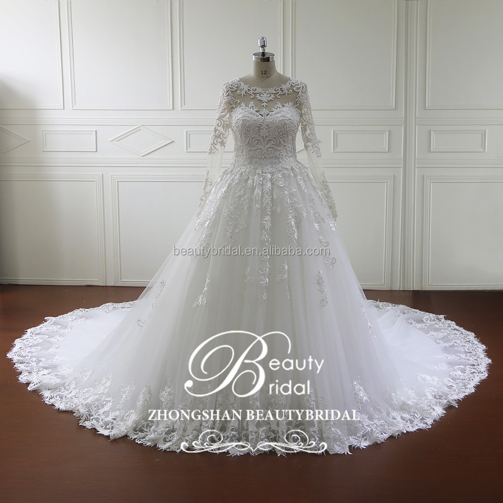 beautiful bridal wedding dress ball gown luxury muslim wedding dresses with heavy beadings