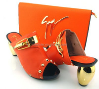 wholesale ladies shoes and matching bag(GZ15-903)