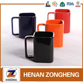 2016 12oz square solid glazed stoneware mug for child from china