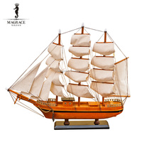 Wholesale European the pear sailing vessel crafts model