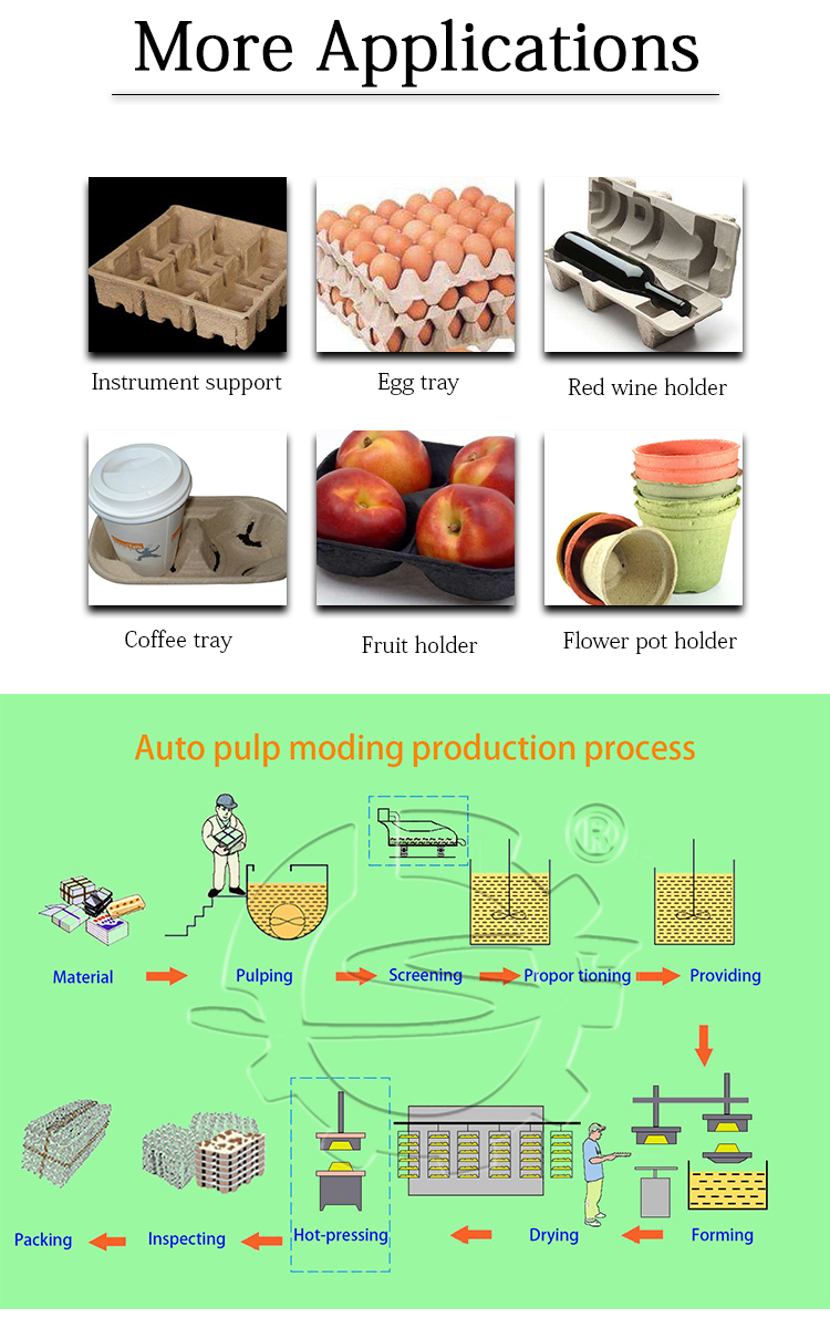 Shuliy machine nepal egg tray production machine with hot press