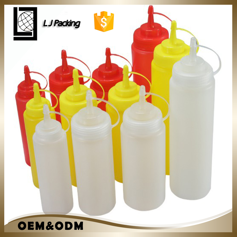 manufacturer 320ml 220ml custom plastic squeeze bottle for ketchup