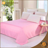 70/90GSM solid color wholesale cheap flat bed sheets