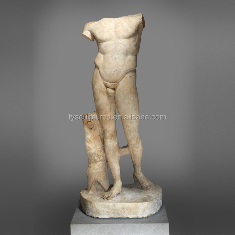 Antique nude human body sculpture crafts marble male nude sculpture
