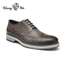 Alibaba Mens designer Shoes Fashion man shoe Grey Pu African Oxford Shoes For Men