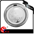 Stainless Steel Food Plate/Food Dish/Serving Plate With Flower Pattern edge