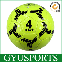 Promotional fluorescent size 4 machine stitched soccer ball