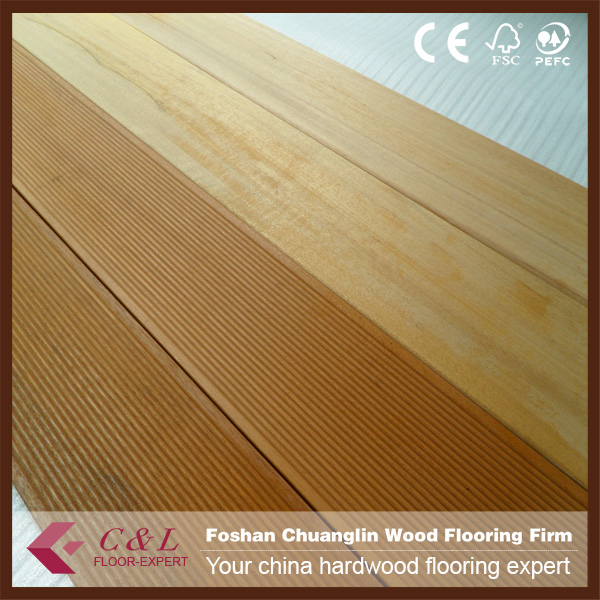 Foshan supplier solid balau wood outdoor deck flooring