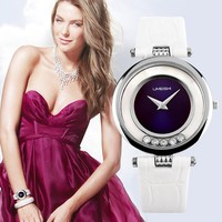 Latest Slim Wrist New Tmes Quartz Diamond Stone Lady Watch