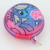 colorful round small earphone eva case,earbuds compact case with climbing carabiner